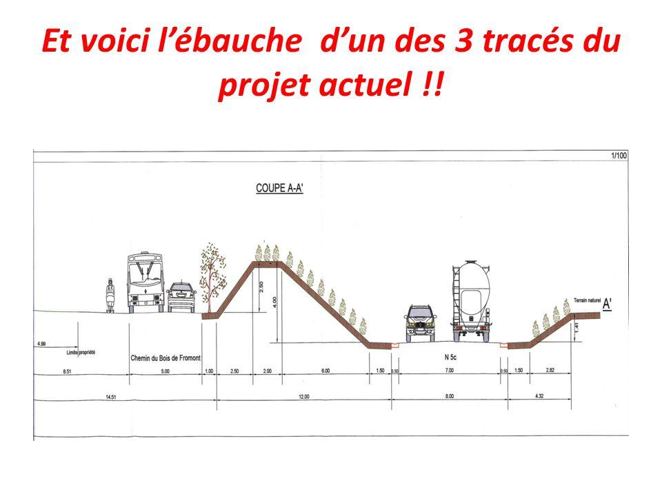 Et voici l'ébauche d'un des 3 tracés du projet actuel !!
