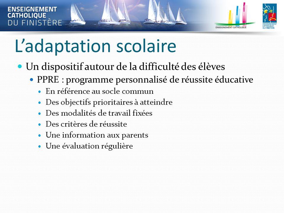 L'adaptation scolaire