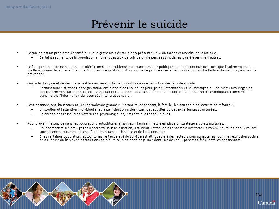 Prévenir le suicide Le suicide est un problème de santé publique grave mais évitable et représente 1,4 % du fardeaux mondial de la maladie.