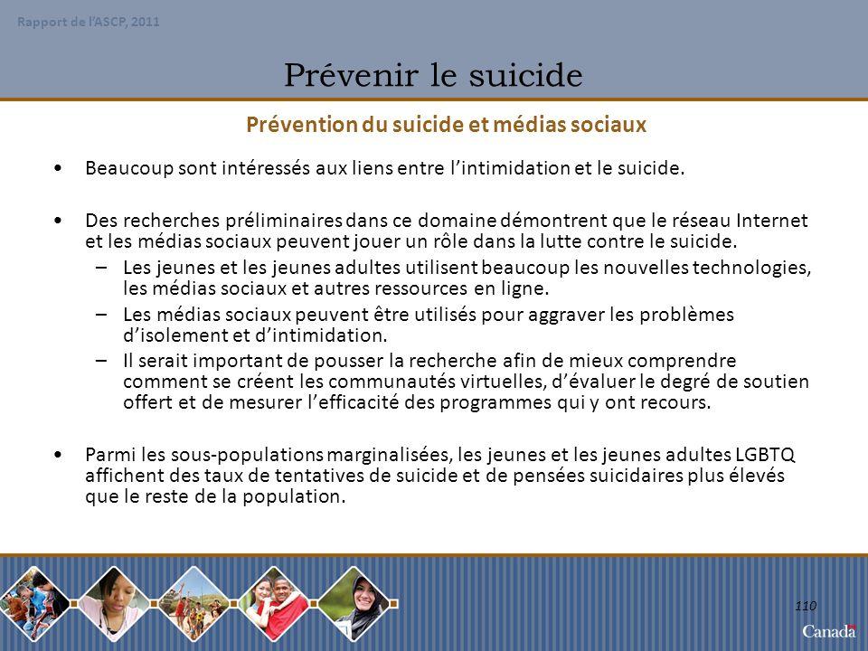 Prévention du suicide et médias sociaux