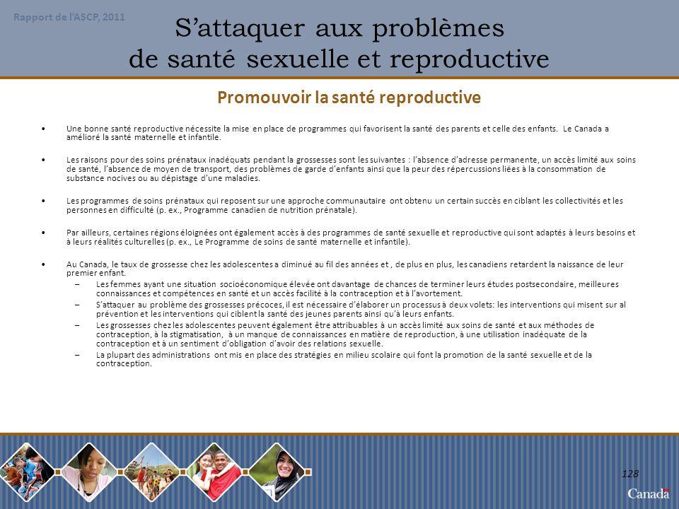 S'attaquer aux problèmes de santé sexuelle et reproductive