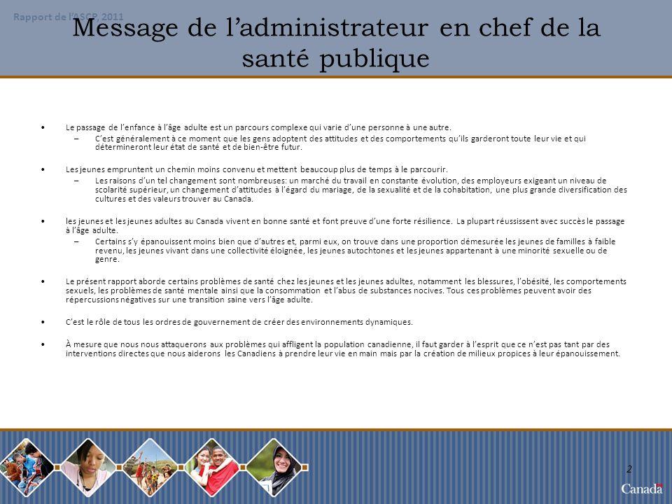 Message de l'administrateur en chef de la santé publique