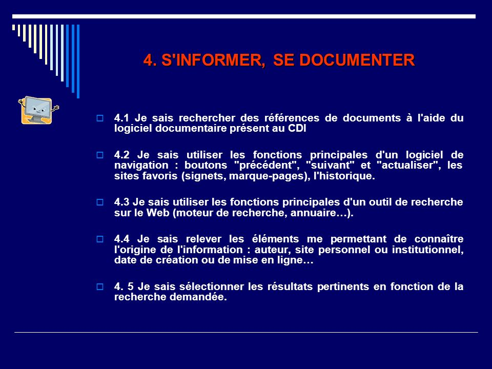 4. S INFORMER, SE DOCUMENTER