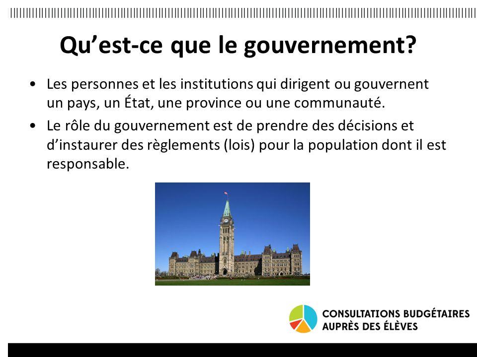 Qu'est-ce que le gouvernement