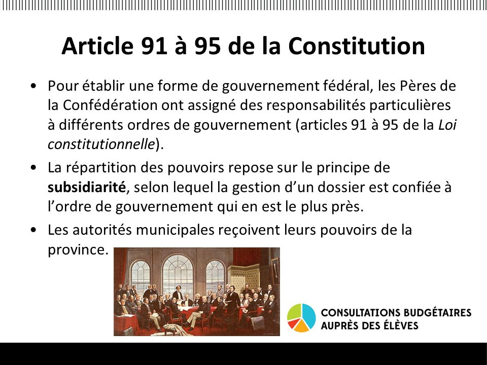 Article 91 à 95 de la Constitution