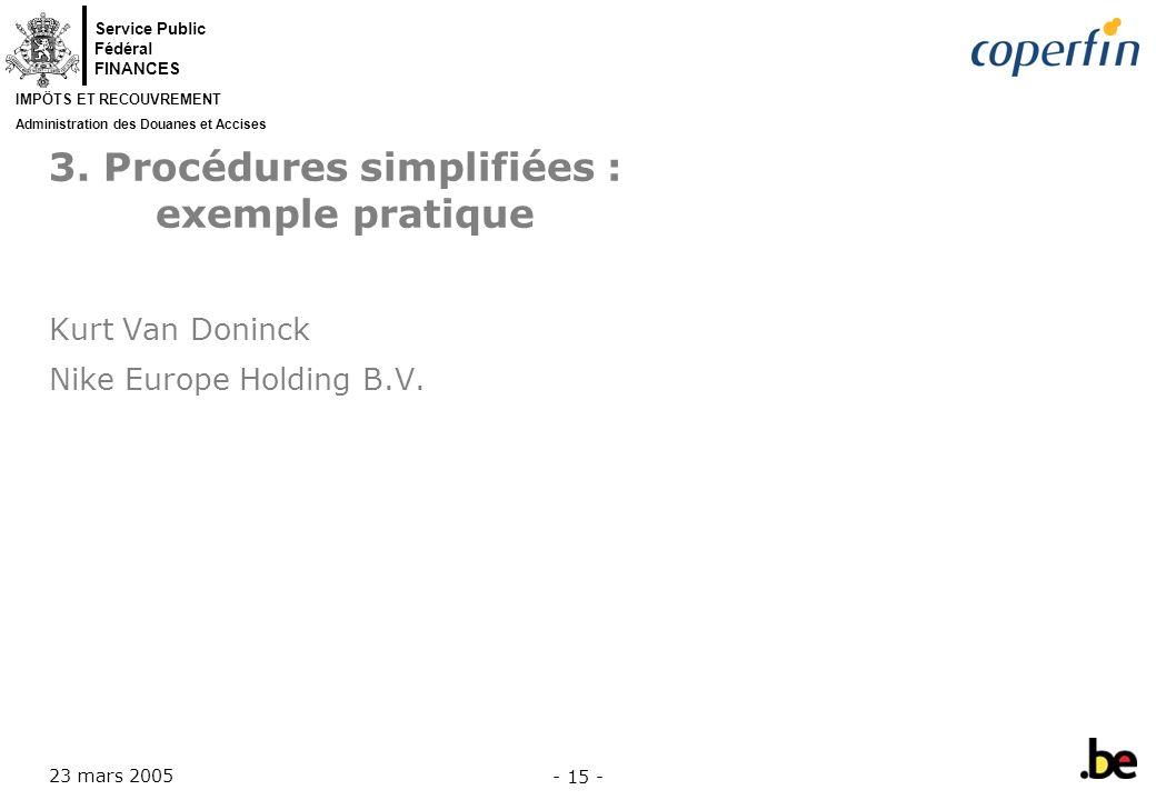 3. Procédures simplifiées : exemple pratique