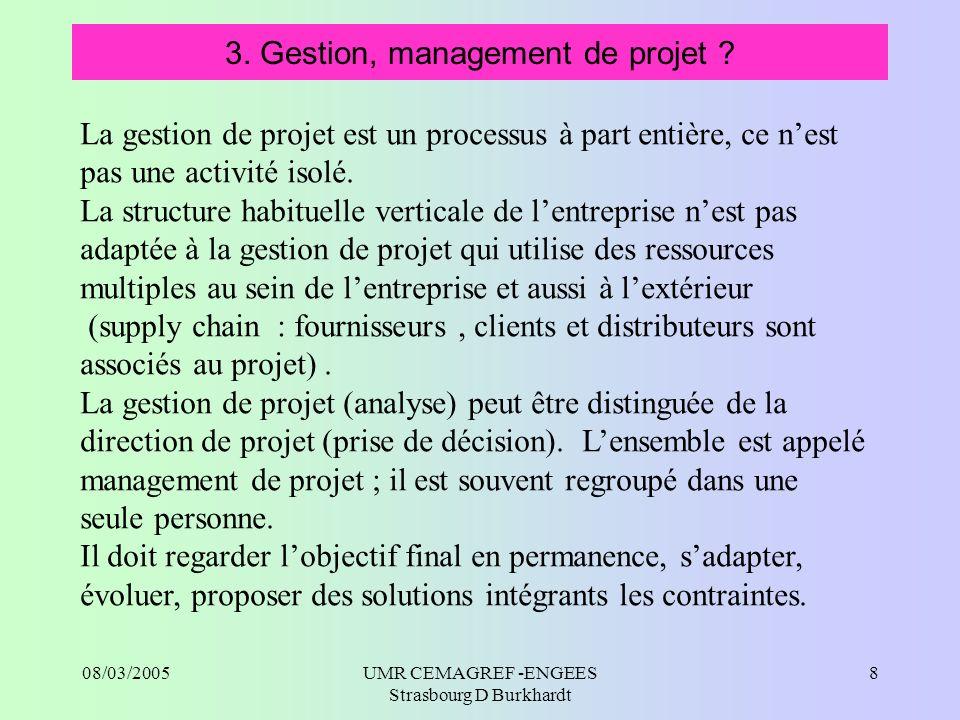 3. Gestion, management de projet