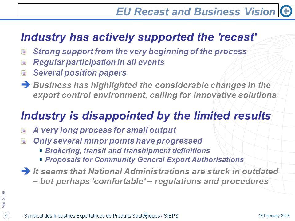 EU Recast and Business Vision