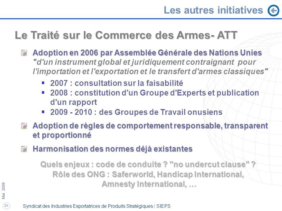 Le Traité sur le Commerce des Armes- ATT