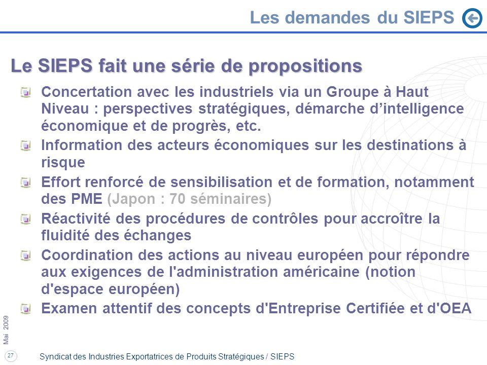 Le SIEPS fait une série de propositions