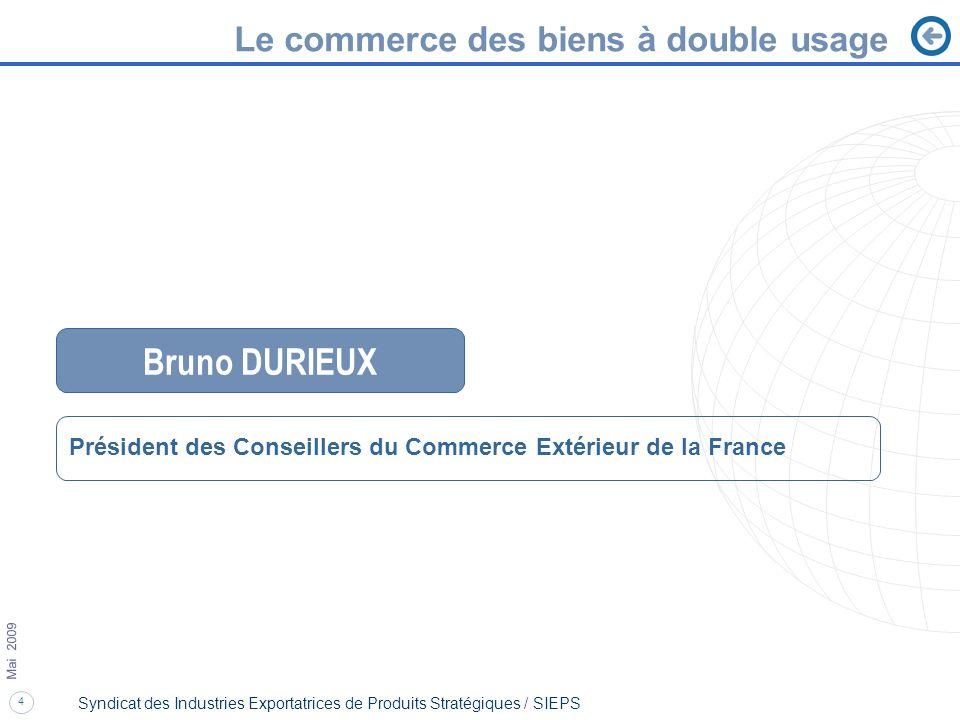 Bruno DURIEUX Le commerce des biens à double usage