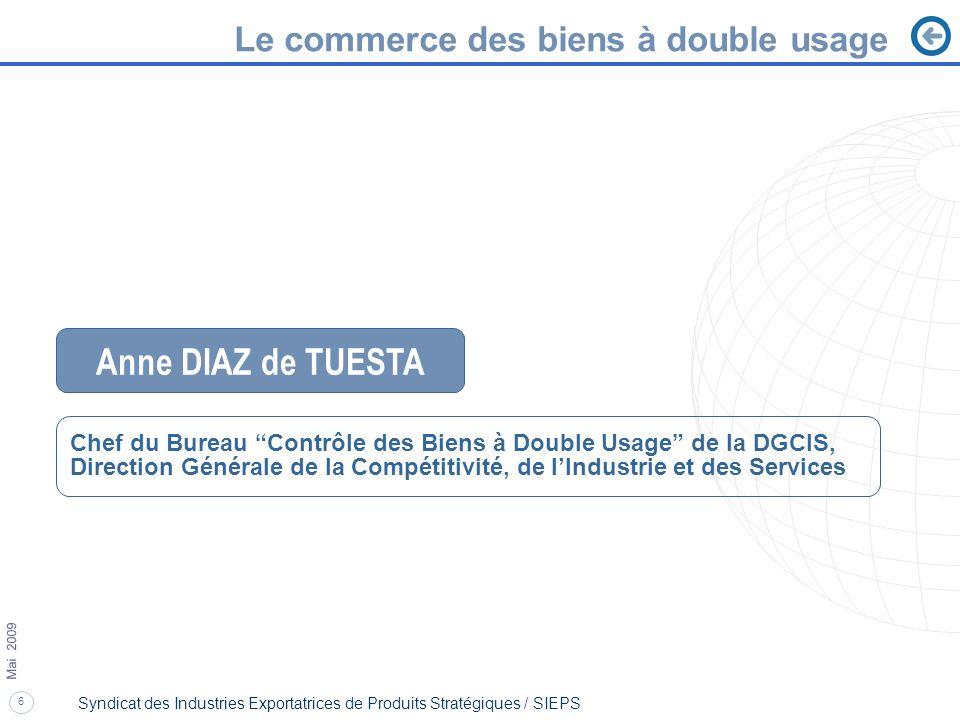 Anne DIAZ de TUESTA Le commerce des biens à double usage