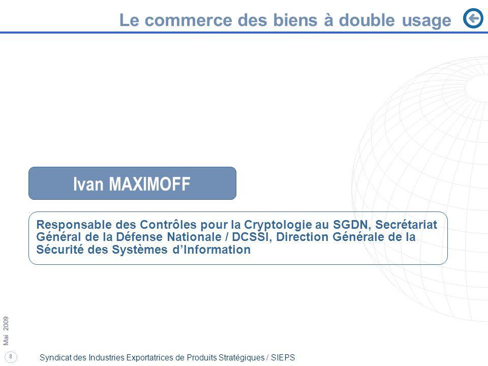 Ivan MAXIMOFF Le commerce des biens à double usage