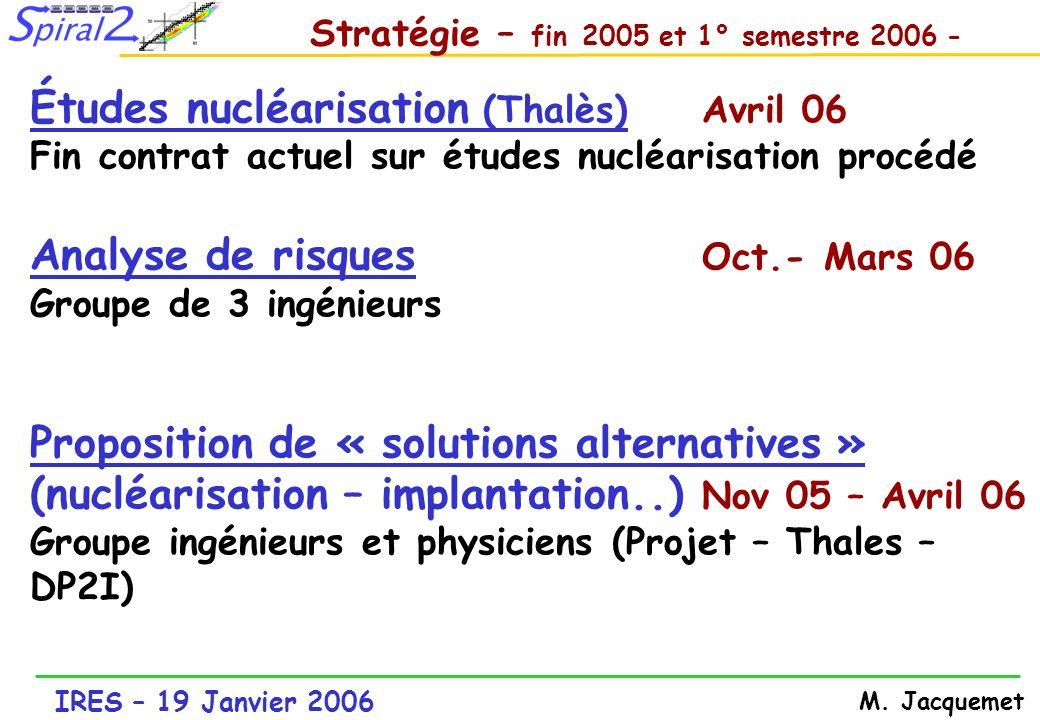 Stratégie – fin 2005 et 1° semestre 2006 -