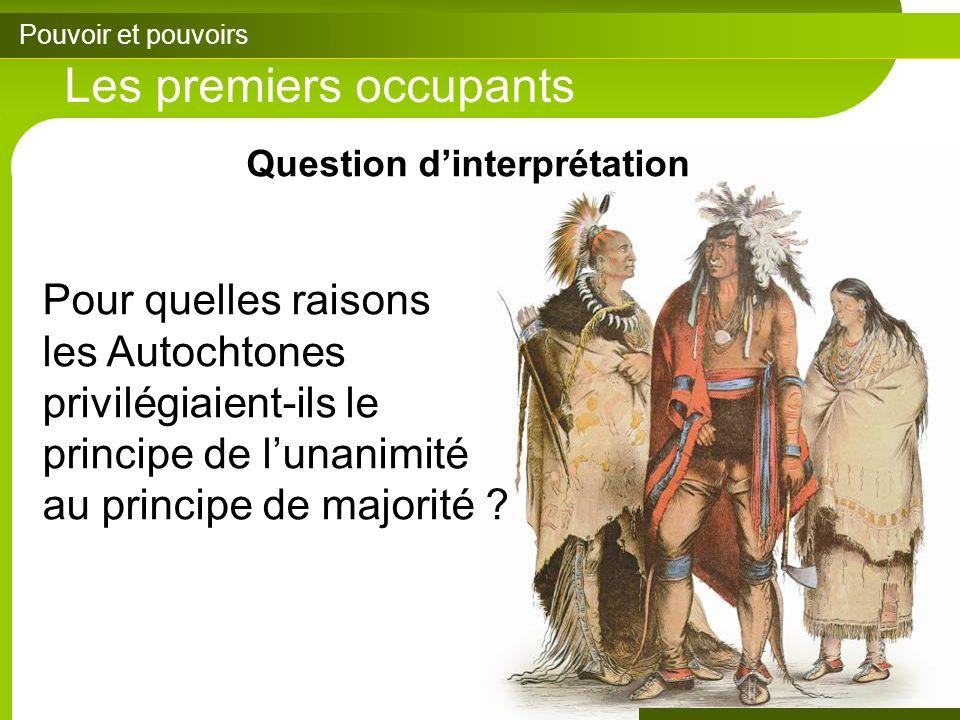 Question d'interprétation