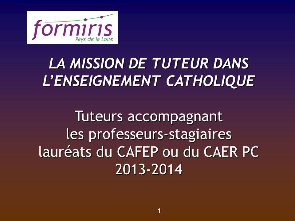 LA MISSION DE TUTEUR DANS L'ENSEIGNEMENT CATHOLIQUE