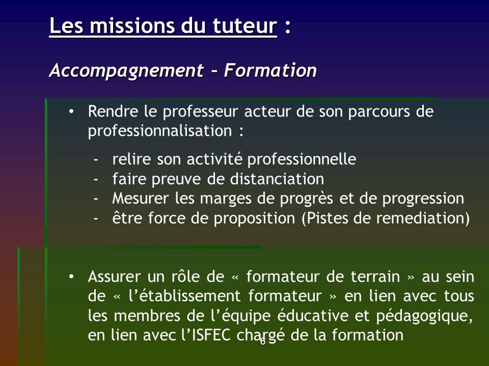 Les missions du tuteur : Accompagnement – Formation
