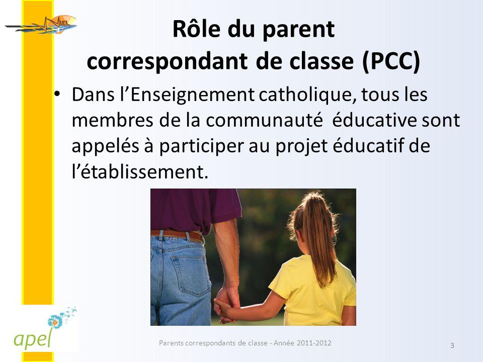 Rôle du parent correspondant de classe (PCC)