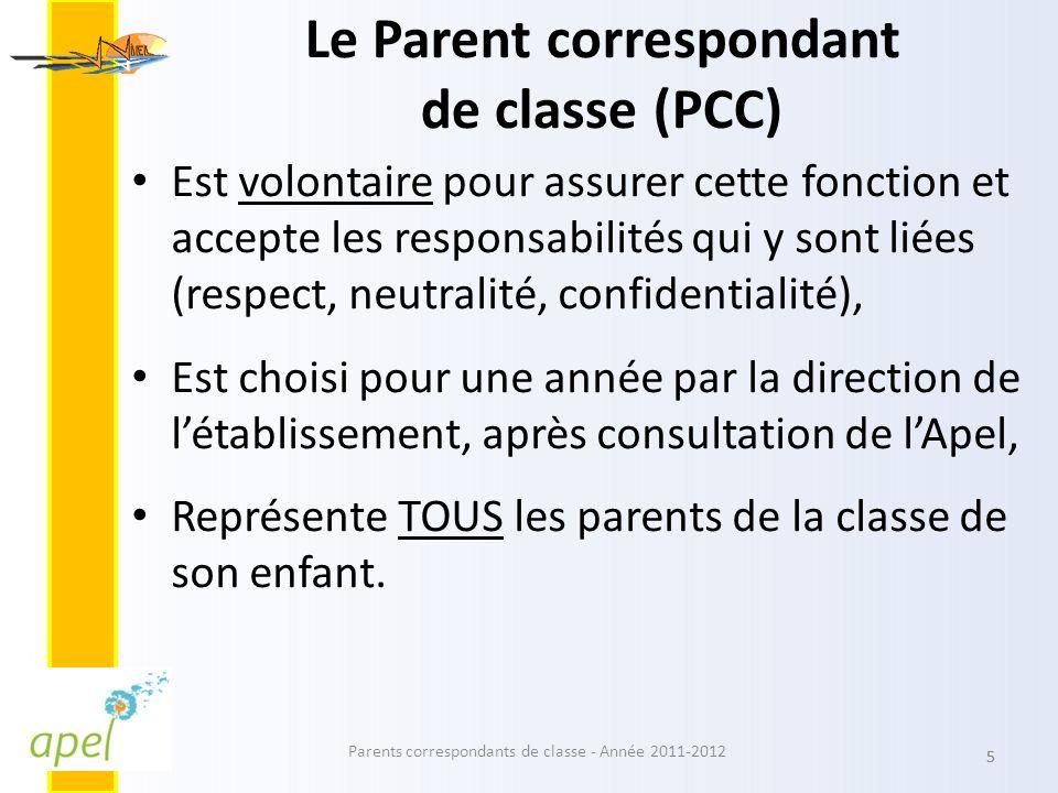 Le Parent correspondant de classe (PCC)
