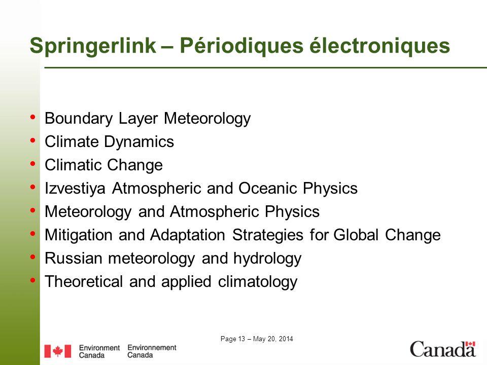 Springerlink – Périodiques électroniques