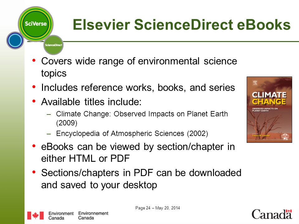 Elsevier ScienceDirect eBooks