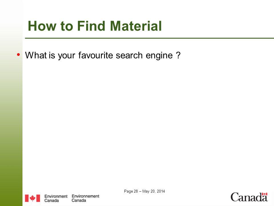 How to Find Material What is your favourite search engine