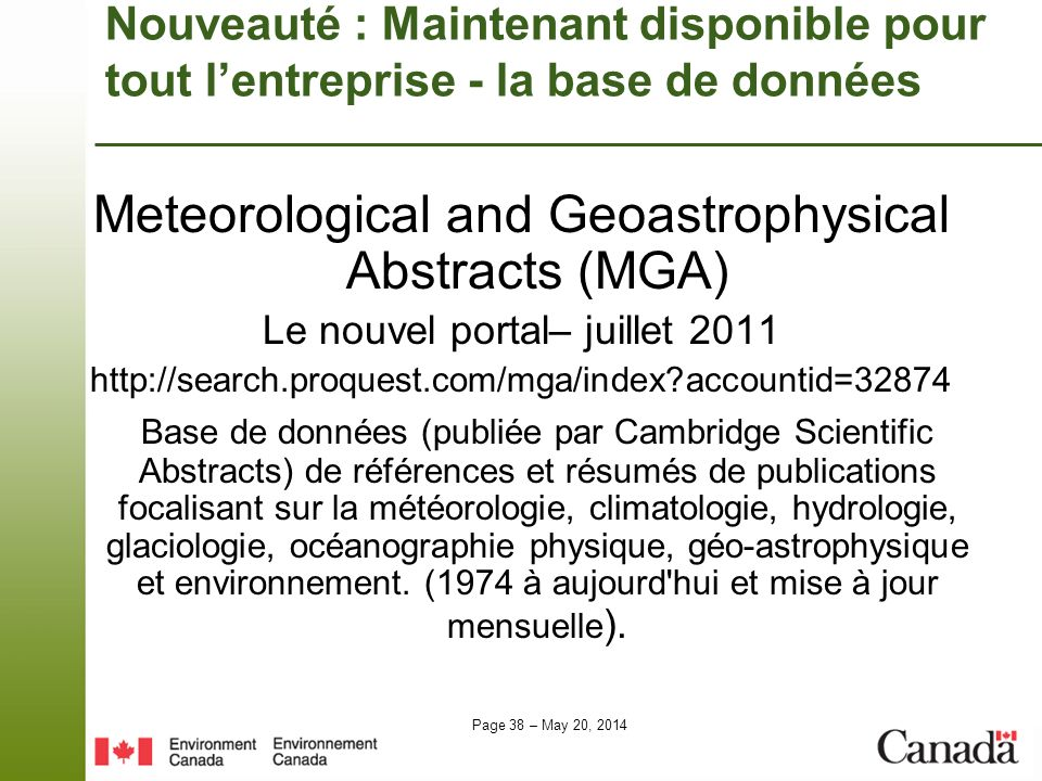 Meteorological and Geoastrophysical Abstracts (MGA)