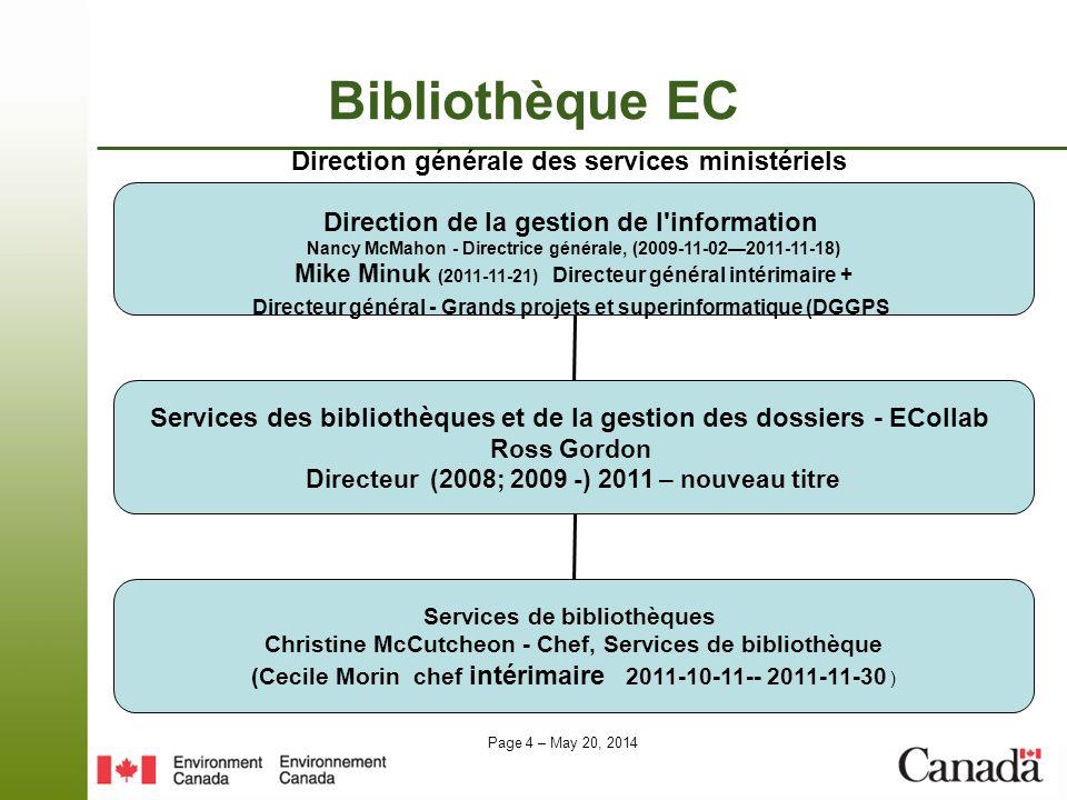 Bibliothèque EC Direction générale des services ministériels