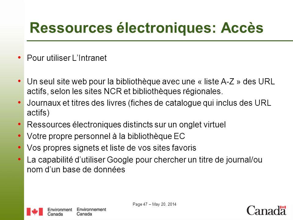 Ressources électroniques: Accès
