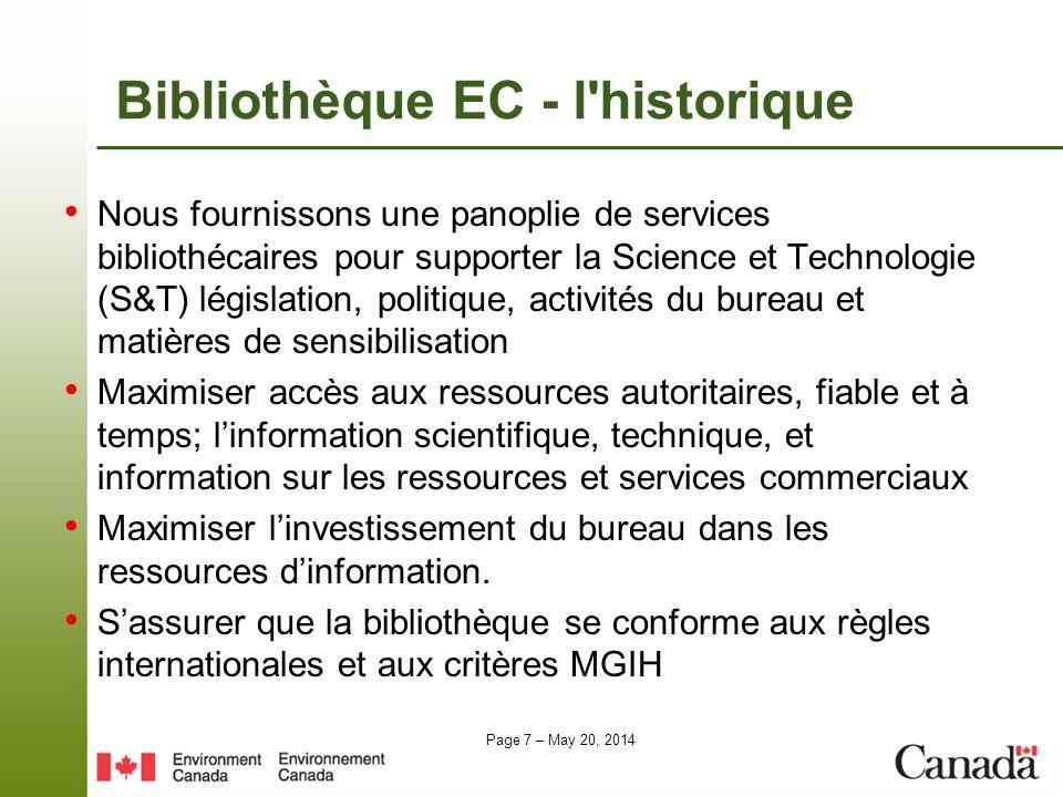 Bibliothèque EC - l historique