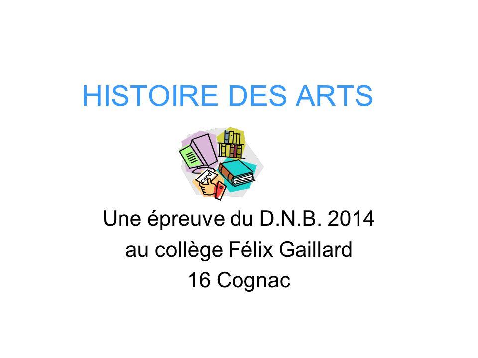 Une épreuve du D.N.B. 2014 au collège Félix Gaillard 16 Cognac