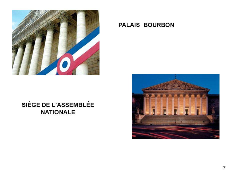 SIÈGE DE L'ASSEMBLÉE NATIONALE