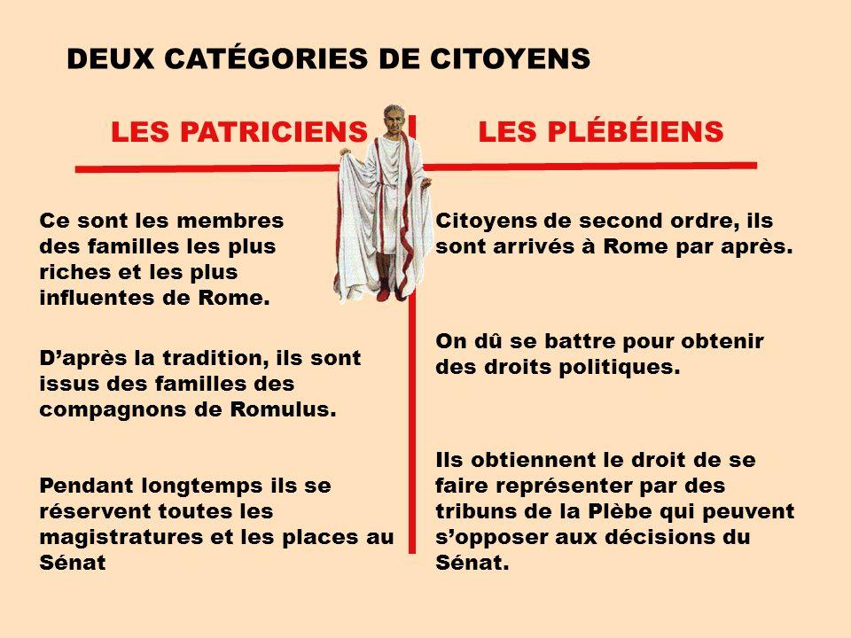 DEUX CATÉGORIES DE CITOYENS