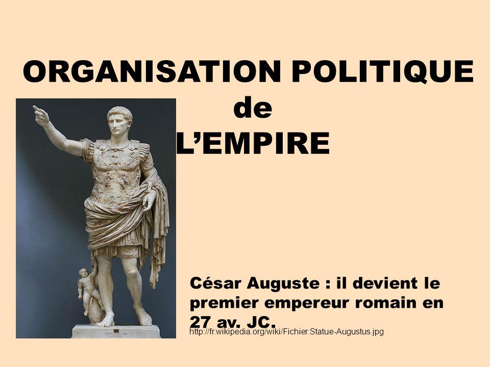 ORGANISATION POLITIQUE de L'EMPIRE