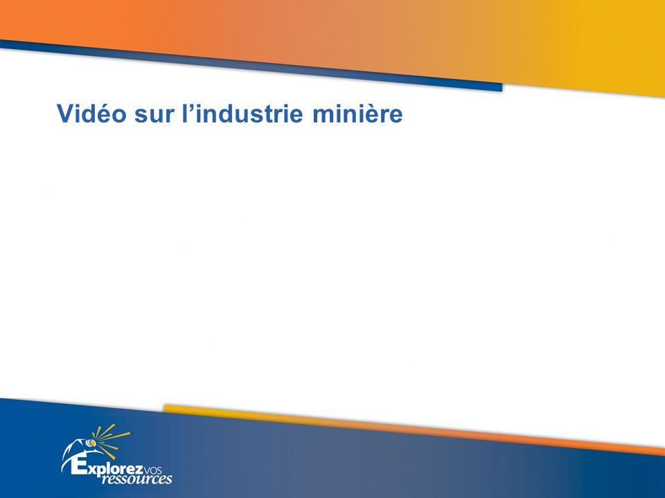 Vidéo sur l'industrie minière
