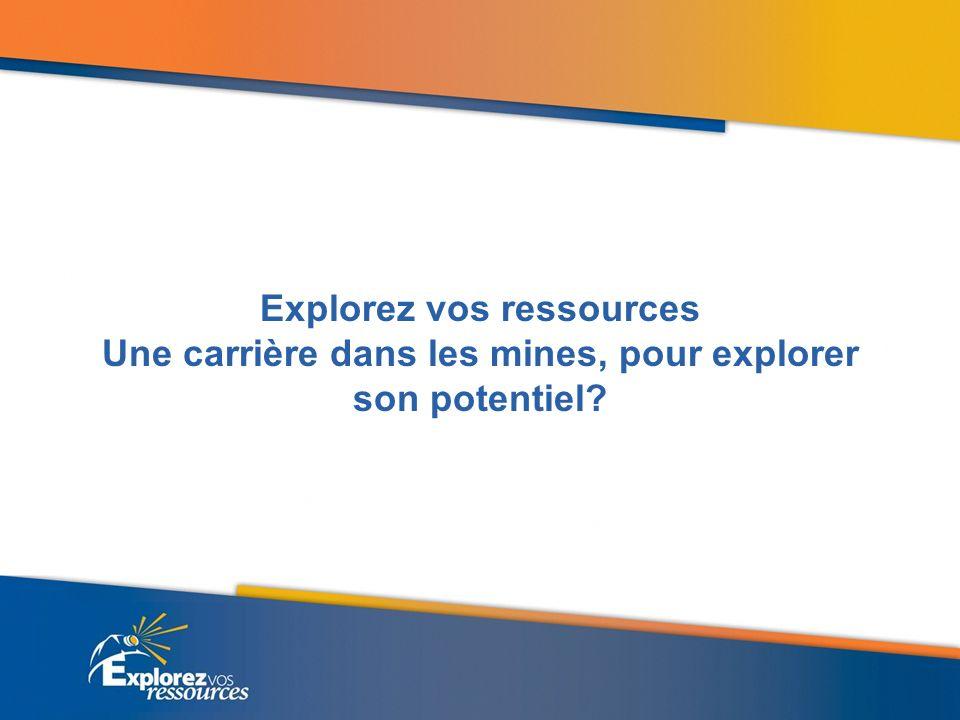 Explorez vos ressources Une carrière dans les mines, pour explorer son potentiel