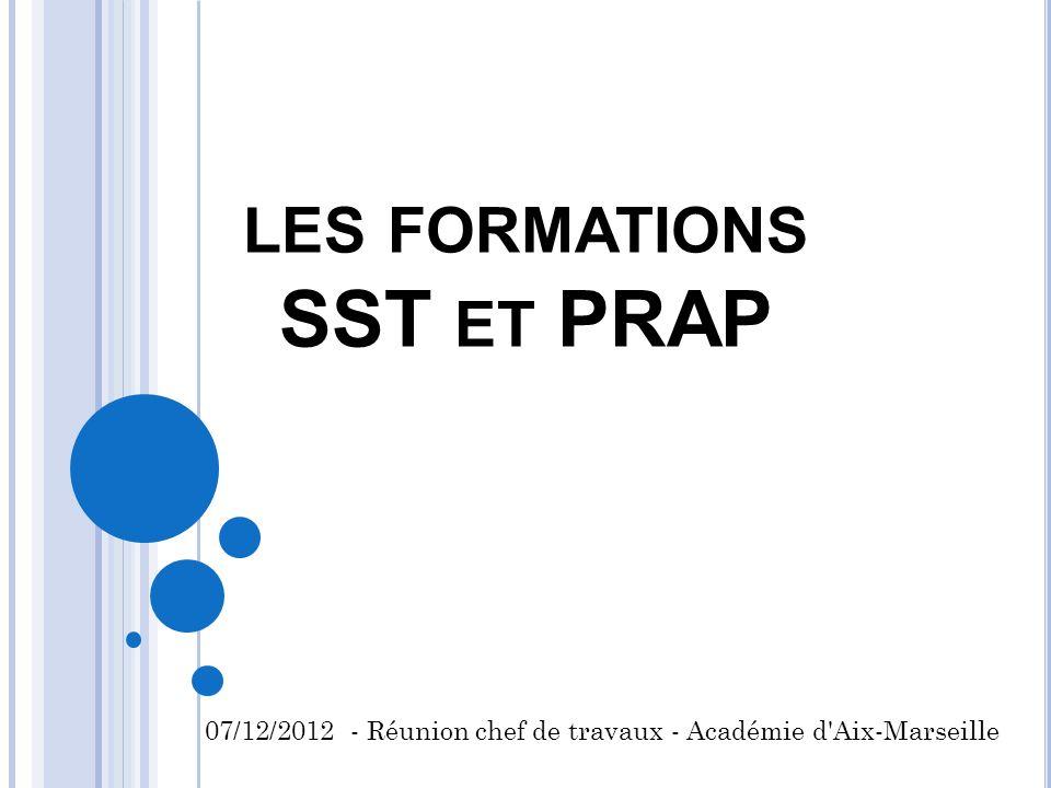 les formations SST et PRAP