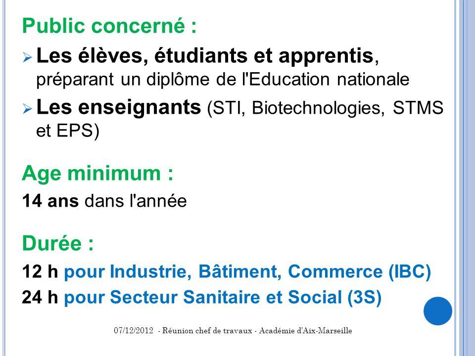 Les enseignants (STI, Biotechnologies, STMS et EPS)
