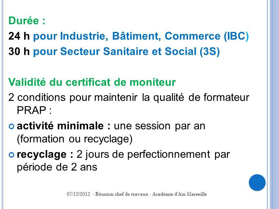 24 h pour Industrie, Bâtiment, Commerce (IBC)