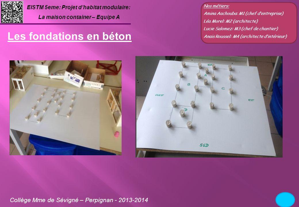 Les fondations en béton