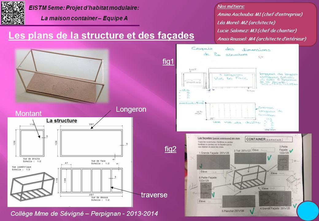Les plans de la structure et des façades
