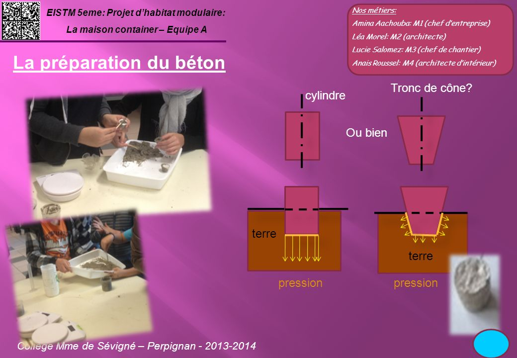 La préparation du béton