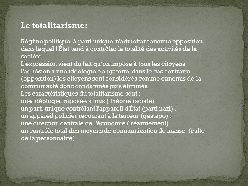 Le totalitarisme: