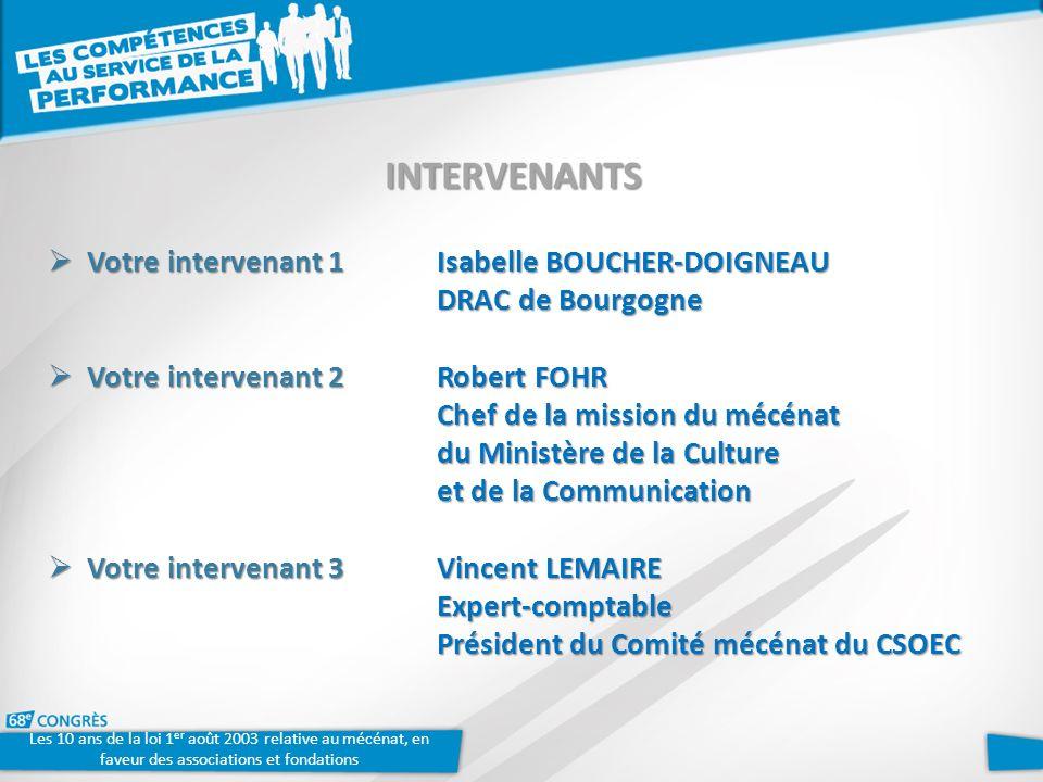 Votre intervenant 1 Isabelle BOUCHER-DOIGNEAU DRAC de Bourgogne