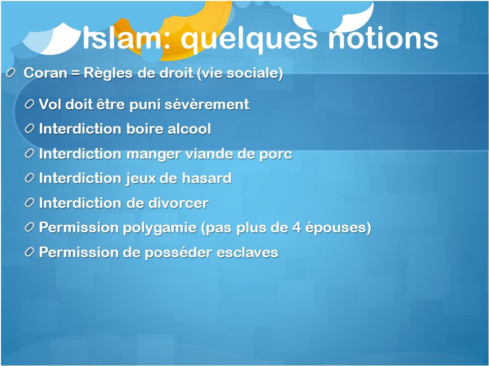 Islam: quelques notions