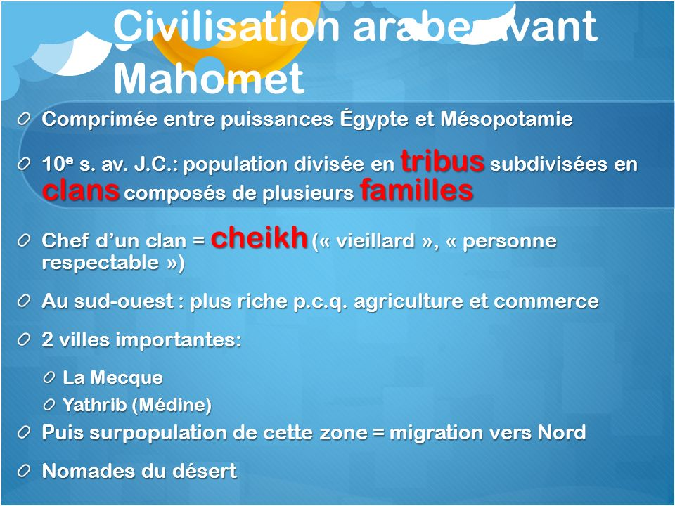Civilisation arabe avant Mahomet