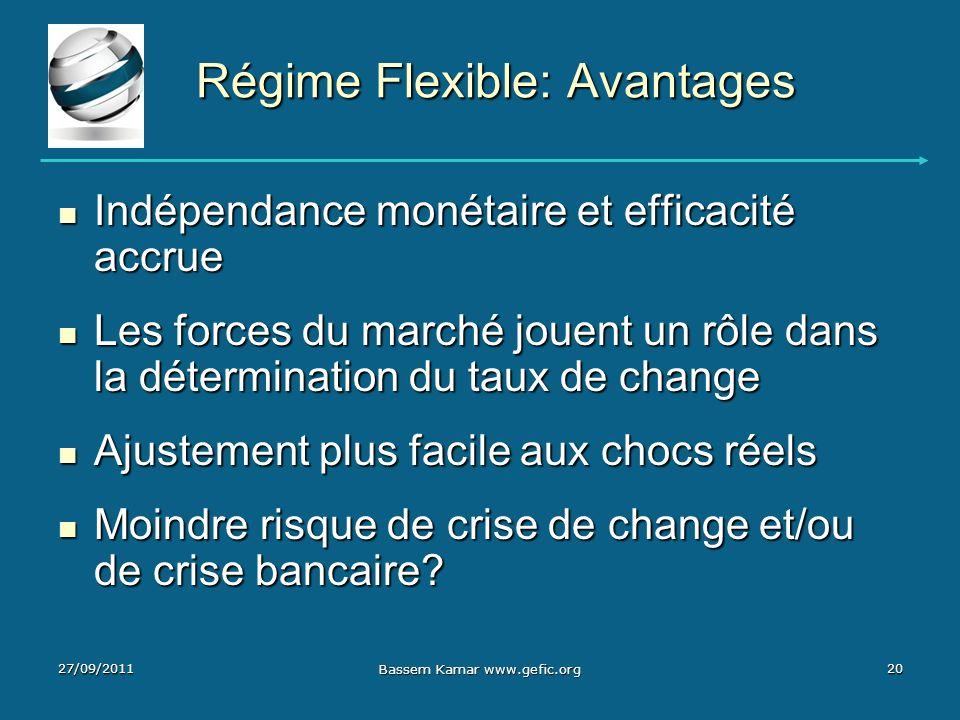 Régime Flexible: Avantages