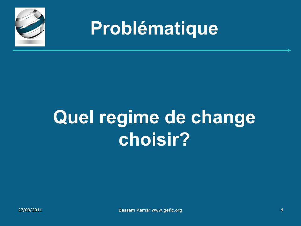 Quel regime de change choisir