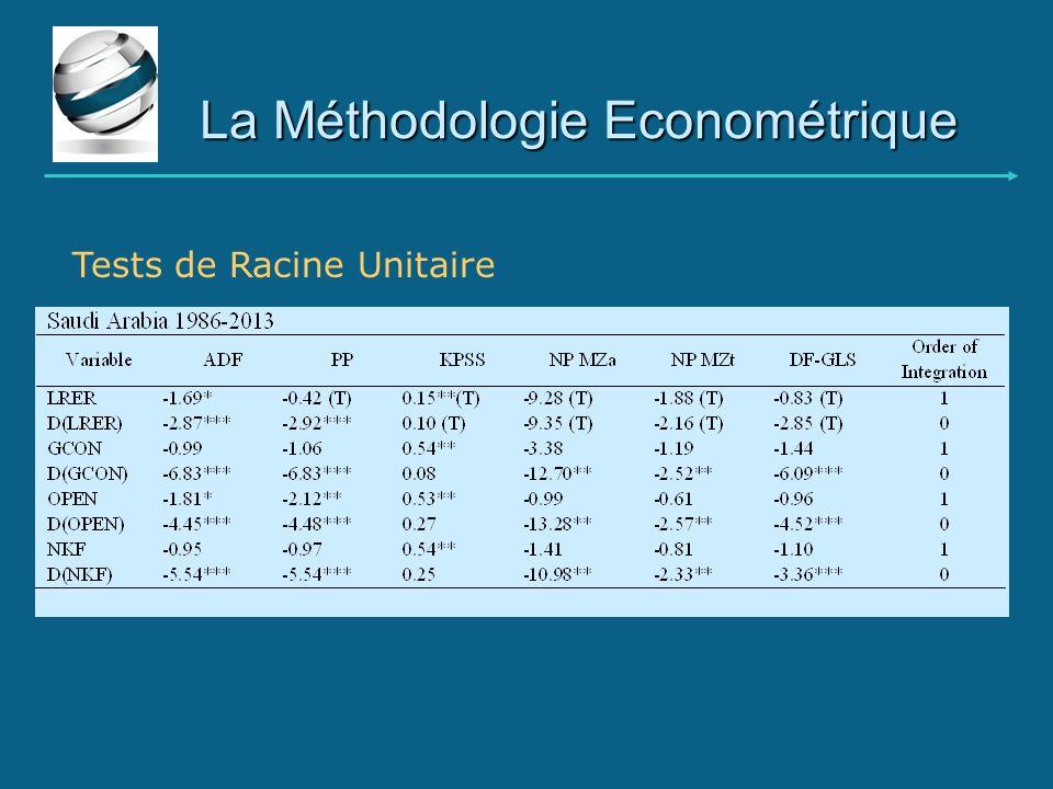 La Méthodologie Econométrique