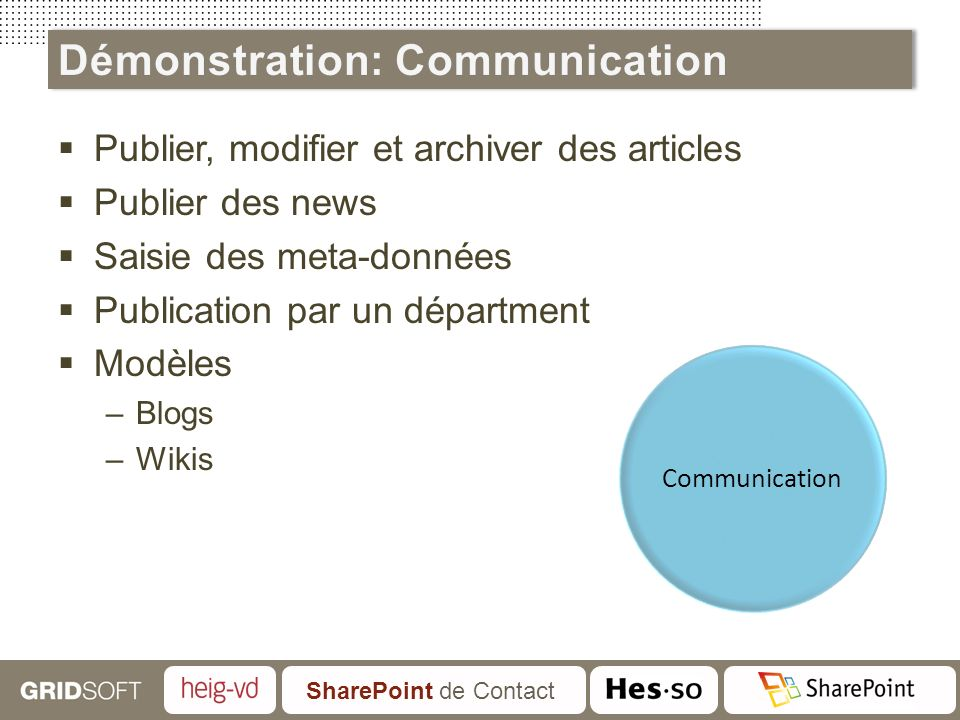 Démonstration: Communication